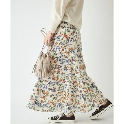 スカート ガーデンフラワーボリュームヘムスカート