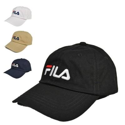 フィラ・ライナーロゴ・ローキャップ 綿 カジュアル メンズ レディース キャップ 洗える 帽子