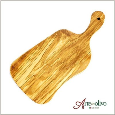 [Arteinolivo] オリーブウッド カッティングボード-(グースネックMサイズ)