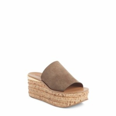 クロエ CHLOE レディース サンダル・ミュール シューズ・靴 Camille Cork Platform Sandal Dark Greige