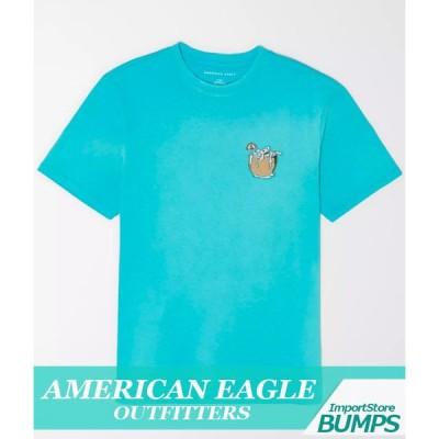 アメリカンイーグル ディップダイTシャツ 半袖 メンズ スーパーソフト ロゴ 丸首 XS〜XXXL アメカジ 新作 AEO