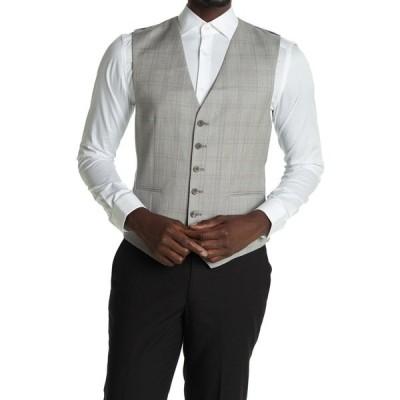 レイス メンズ ジャケット&ブルゾン アウター Tudor Modern Fit Suit Waistcoat Vest SOFT GREY