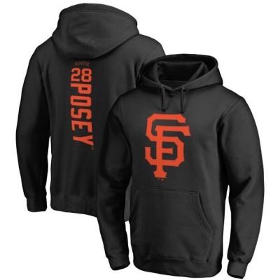 MLB バスター・ポージー サンフランシスコ・ジャイアンツ パーカー/フーディー バッカー プルオーバー ブラック