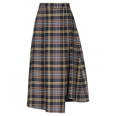 ブライアン デールズ BRIAN DALES 7分丈スカート ダークブルー 42 ウール 50% / アクリル 50% 7分丈スカート
