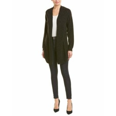 IN Cashmere インカシミア ファッション トップス In Cashmere Womens Incashmere Open Cashmere Cardigan L Black