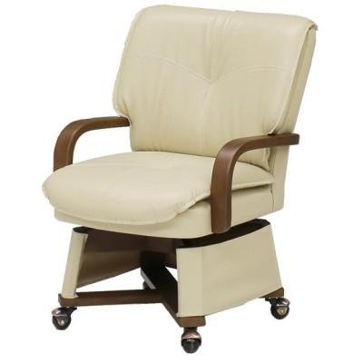 コタツ用 肘付回転座椅子 キャスター付 座面高43cm ( こたつチェア こたつ用 コタツ用チェア 椅子 イス )