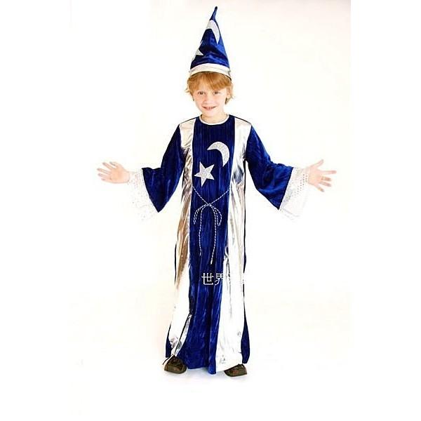 派對達人 萬聖節服飾,萬聖節裝扮,變裝派對,兒童變裝服-星月魔法師