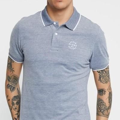 ブレンド メンズ ファッション Polo shirt - denim blue