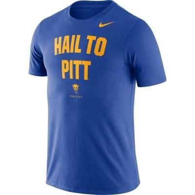ナイキ メンズ Tシャツ トップス Nike Men's Pitt Panthers Blue Dri-FIT Phrase T-Shirt