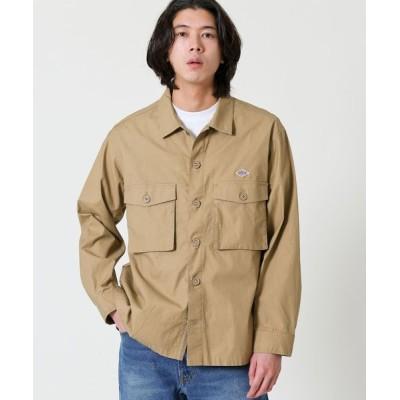 coen メンズ ミリタリーシャツジャケット トップス シャツ/ブラウス ベージュ S