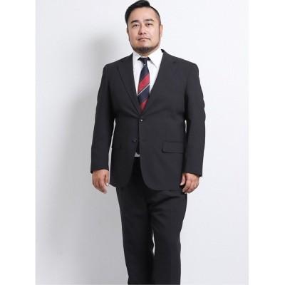 【グランバック】 グランバック/GRAND-BACK トラベスト/TRABEST 2釦2パンツスーツ 黒シャドーストライプ メンズ ブラック KB6 GRAND-BACK