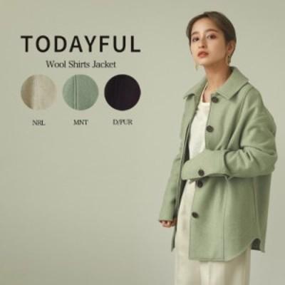 SALE50%OFF TODAYFUL トゥデイフル アウター Wool Shirts Jacket ウールシャツジャケット 12020107/吉田怜香 レディース