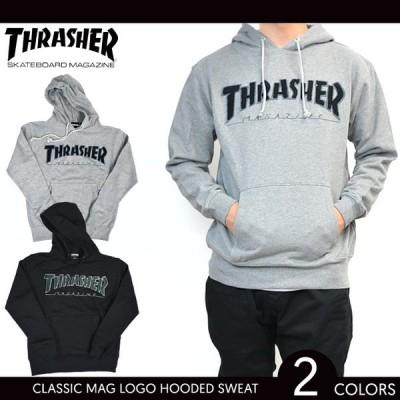 THRASHER スラッシャー CLASSIC MAG LOGO HOODED SWEATSHIRT プルオーバー パーカー メンズ ストリート スケート スウェット