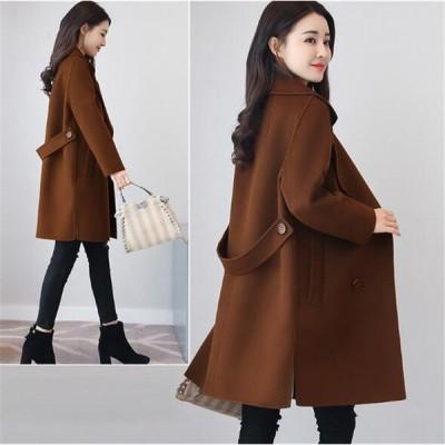 チェスターコート レディース ロングコート コート アウター カジュアル ファッション 無地 黒 大きいサイズ 30代 40代 きれいめ OL 通勤 オフィス ビジネス