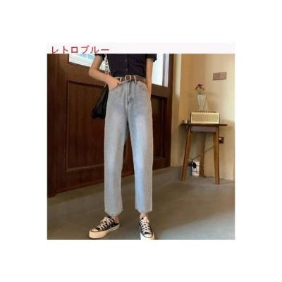 【送料無料】ハイウエスト 女性のジーンズ 夏 薄いスタイル ルース 着やせ ストレー | 364331_A63277-8325641