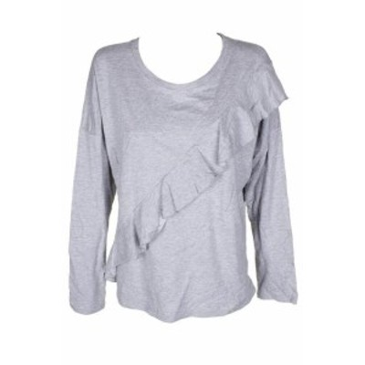 HEATHER  ファッション トップス Inc International Concepts Heather Gris Asymetrique Ruche Pull Col Rond