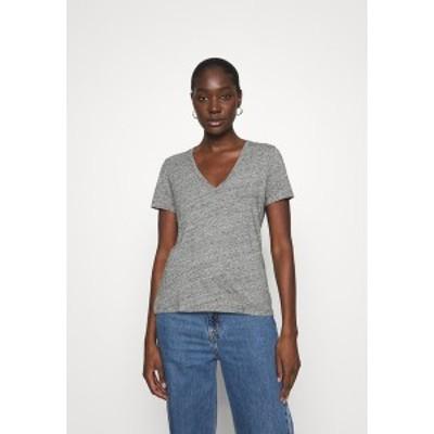 メイドウェル レディース Tシャツ トップス WHISPER V NECK TEE - Basic T-shirt - pewter pewter