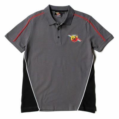 アバルト コルセ Abarth Corse 半袖 ポロシャツ グレー 灰色