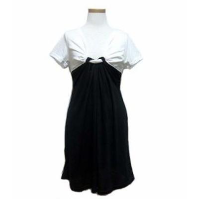 【新品】KOBE LETTUCE ドレスリボンワンピース (Monochrome dress ribbon dress) コウベレタス 神戸 041191