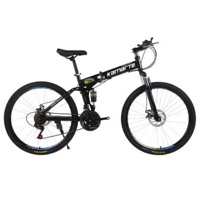 26インチ 折りたたみマウンテンバイク  ダブルディスクブレーキ 自転車