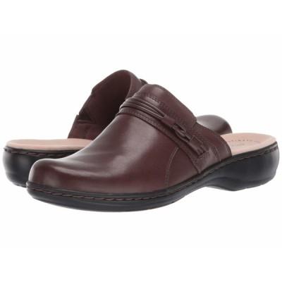 クラークス サンダル シューズ レディース Leisa Clover Dark Brown Leather
