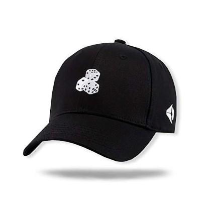 WHITE FANG(ホワイトファング) 帽子 キャップ サイコロ ダイス おしゃれ ユニーク おもしろ メンズ CA080 (01:ブラッ