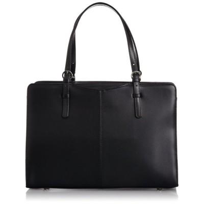 [ラカセッタ] LA CASETTA 合皮リクルートトートバッグ(A4対応) 0482 クロ (ブラック)