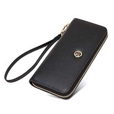 LAORENTOU Cow Leather Wallets for Women Wristlet Wallets Zip Around Wallets for Women, Women's RFID Blocking Wallets Card Phone