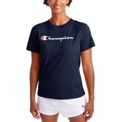 チャンピオン レディース Tシャツ トップス Women's Classic Logo T-Shirt Athletic Navy