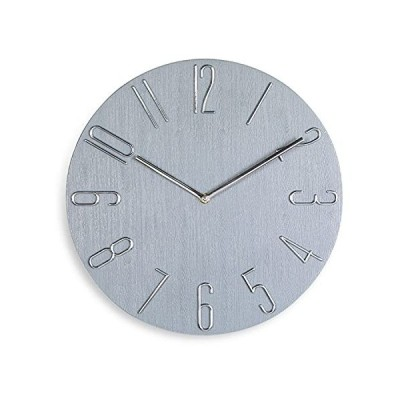 掛け時計 おしゃれ 連続秒針 静音 かわいい 壁掛け時計 北欧風 シンプル モダン フレームなし インテリア 非電波 かけ時計 3D立体数字 木目調盤