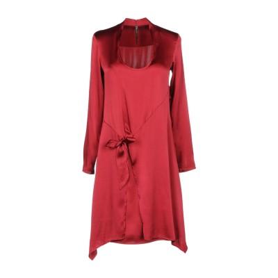 マニラ グレース MANILA GRACE ミニワンピース&ドレス 赤茶色 38 93% シルク 7% ポリウレタン ミニワンピース&ドレス