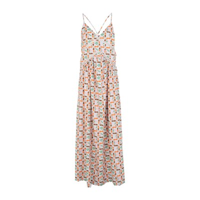 SUOLI ロングワンピース&ドレス ベージュ 38 コットン 100% ロングワンピース&ドレス