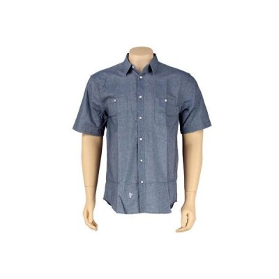 アクティブウェア トップス メンズ ハフ HUF Pinpoint Oxford Short Sleeve Shirt (navy) HUFBU12PINNVY