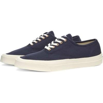 メゾン キツネ Maison Kitsune メンズ スニーカー シューズ・靴 Canvas Laced Sneaker Navy
