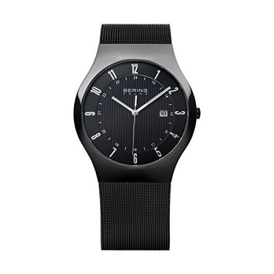 Bering Time Men's Solar Collection Watch with Mesh Band and scratch resistant sapphire crystal. Designed in Denmark. 14640-222 by Bering 並行輸入