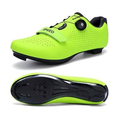 SWISSWELL Men's Road Cycling Shoes Compatible Mountain Bike with SPD/SPD-SL & Fast Rotating Buckle (Green,11 Women/8.5 Men)並行輸入品
