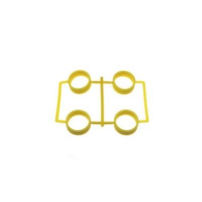 【ネコポス対応】イーグル(EAGLE)/MINI4-RT01-YE/SP大径レーシングタイヤ内径23.5mm1.7mm厚:ミニ4(イエロー)