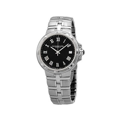 腕時計 レイモンドウィル メンズ 5580-ST-00208 Raymond Weil Parsifal Black Dial Men's Watch 5580-S