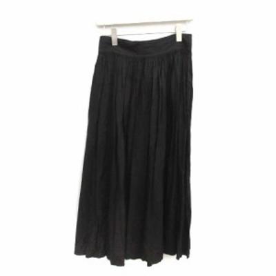 【中古】ワイズ Y's ヨウジヤマモト 3 L ラップスカート ロング フレア タック ペチコート付 黒 ブラック レディース
