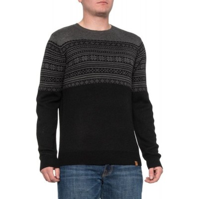 ネーヴェ Neve メンズ ニット・セーター トップス Black-Charcoal Taylor Sweater - Merino Wool, Crew Neck Black/Charcoal