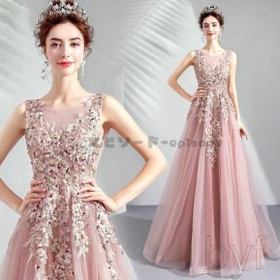 ロングドレス ウェディングドレス イブニングドレス 演奏会 カラードレス 大きいサイズ ドレス ロング 結婚式 お呼ばれ 発表会ドレス レディース 大人 Aライン