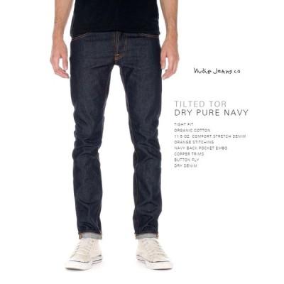 ヌーディージーンズ NudieJeans  TILTED TOR ティルテッドトール Dry Pure Navy ドライ・ピュア・ネイビー L30
