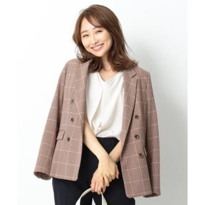 【エニィスィス】 クラシカルチェック テーラードジャケット レディース ベージュ系2 1 any SiS