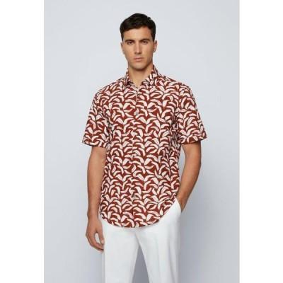 ボス メンズ ファッション Shirt - open brown