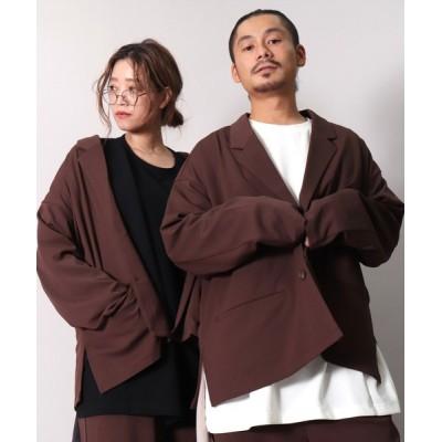 BAYBLO / 【ユニセックス】ワイドシルエット 2B テーラード ジャケット シャツ (BG) MEN ジャケット/アウター > テーラードジャケット