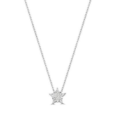 エフィー レディース ネックレス・チョーカー・ペンダントトップ アクセサリー 1/2 ct. t.w. Diamond Star Pendant Necklace in 14K White Gold