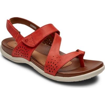 ロックポート ROCKPORT COBB HILL レディース サンダル・ミュール シューズ・靴 Cobb Hill Rubey Slingback Sandal Red