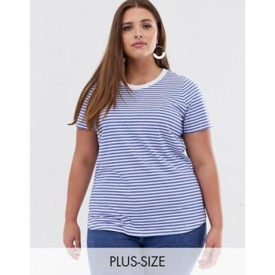 ジュナローズ レディース シャツ トップス Junarose stripe ringer t-shirt