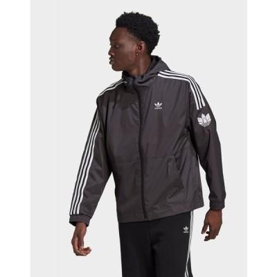 アディダス adidas Originals メンズ ジャケット ウィンドブレーカー アウター adicolor 3d trefoil windbreaker black