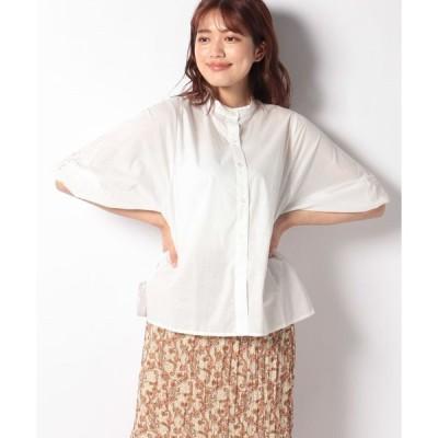 【メラン クルージュ】【Melan Cleuge women】ボリューム袖刺繍ブラウス